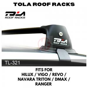 TOLA ROOF RACK CROSS BAR TL-321, HILUX VIGO NAVARA TRITON RANGER DMAX