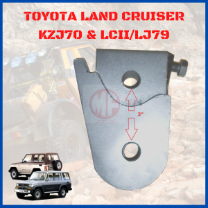 REAR PAN HARD ROD EXTEND BRACKET, TOYOTA LAND CRUISER LJ79 / LCII