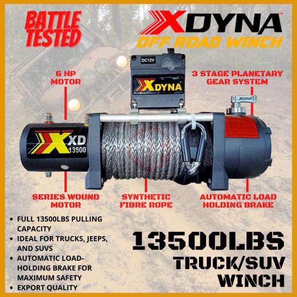 XDYNA 4X4 ELECTRIC WINCH 13500LBS