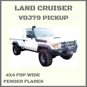 TOYOTA LAND CRUISER HZJ79 / VDJ79 PICK UP SERIES, WIDE FRP FENDER FLARES