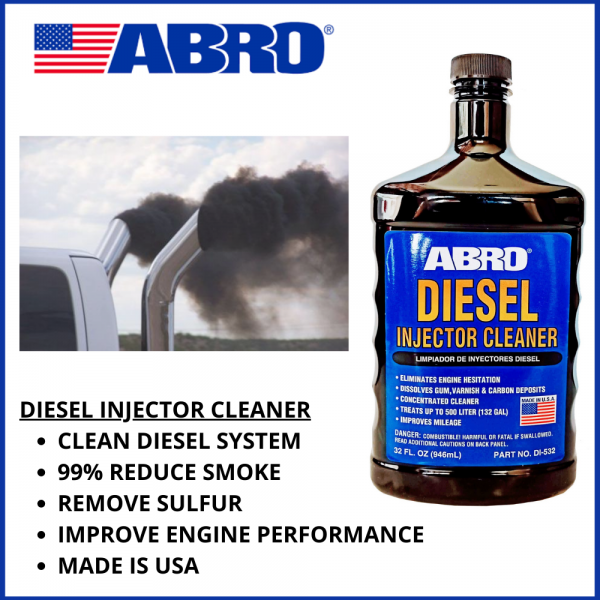 ABRO DIESEL FUEL SYSTEM & INJECTOR CLEANER (946ML) MADE IN USA