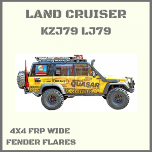 TOYOTA LAND CRUISER LCII/LJ78/LJ79/KZJ78/KZJ79 SERIES, 4 DOOR, WIDE FRP FENDER FLARES