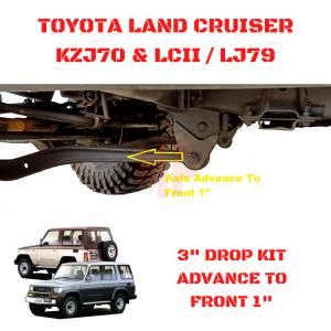 CASTER BRACKET OFF SET 1″, LAND CRUISER LJ79 / KZJ70 / LCII SERIES