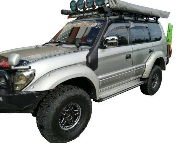 TOYOTA LAND CRUISER PRADO 90 SERIES, 4 DOOR, 5″ WIDE FRP FENDER FLARES