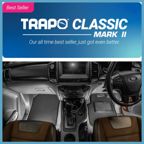 FORD RANGER T6 PX DOUBLE CAB , TRAPO CLASSIC FLOOR MAT